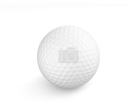 3d white golf ball