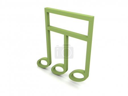Three dimensional musical clef
