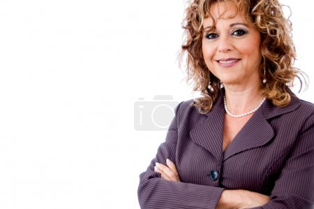 Successful senior woman smiling