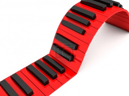 Photo for Three dimensional red and black piano keys - Royalty Free Image