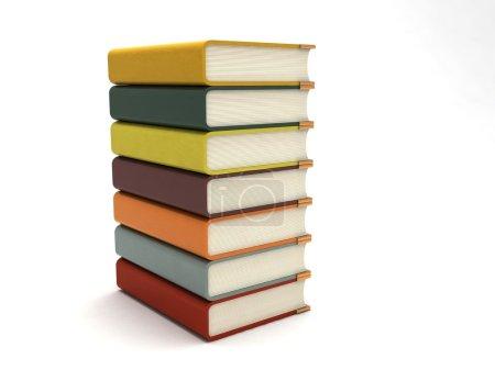 3d rendered bundle of books