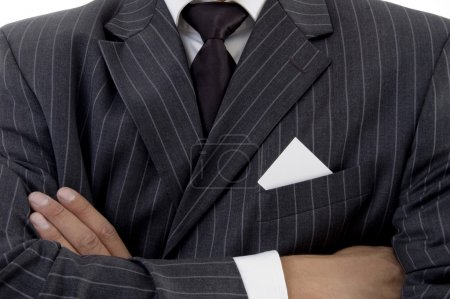 Businessman with folded hands, close up