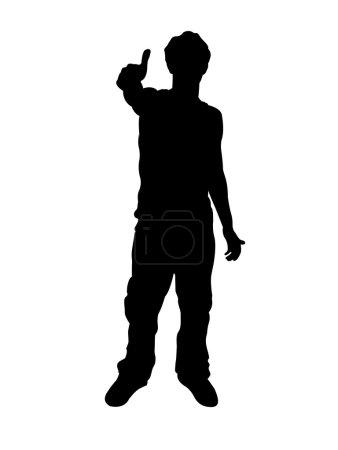 Silhouette of man wishing good-luck