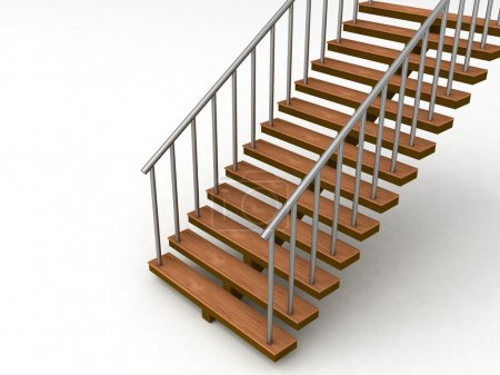 Photo for Isolated 3D stairs against white background - Royalty Free Image