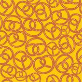 Pretzel seamless pattern