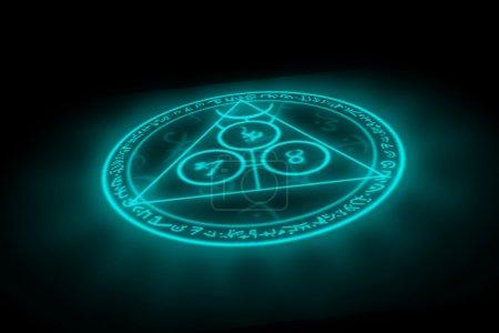 Photo for Magic symbol sorcery hieroglyphs - Royalty Free Image