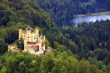 Photo pour Une vue de dessus du château de hohenschwangau - image libre de droit