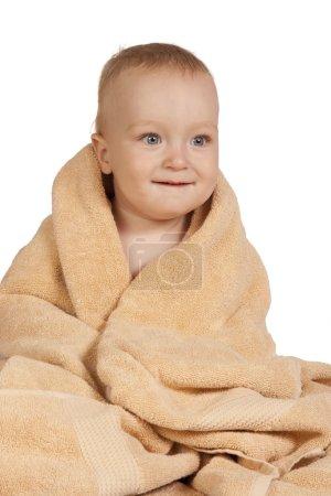 Little baby in towel