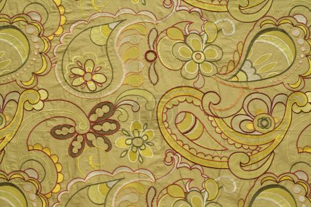 Vintage fabric with the embroidered flowers...