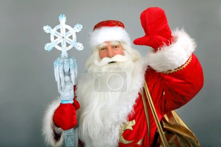 Photo for Christmas Santa Claus on a grey - Royalty Free Image