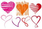 Heart scribbles vector