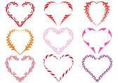Decorative heart frames vector