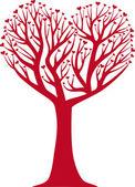 Heart shaped tree vector