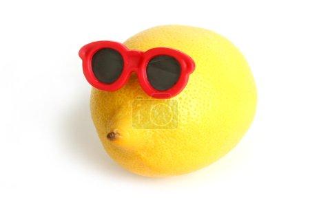 Funny lemon in sun glasses