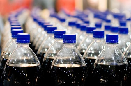 Photo for Plastic bottles in shop - Royalty Free Image