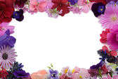 Floral background frame