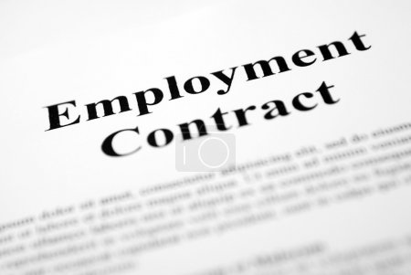 Photo for Employment Contract - Royalty Free Image