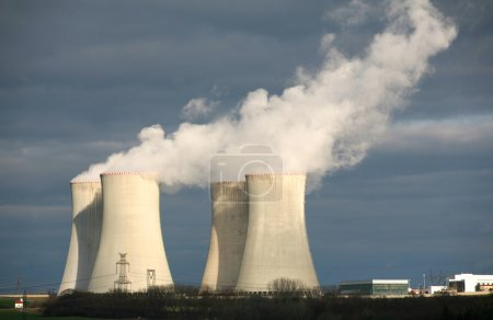 Nuclear power plant Dukovany, Czech republic...
