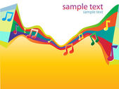 Abstract bright color musical vector background #01