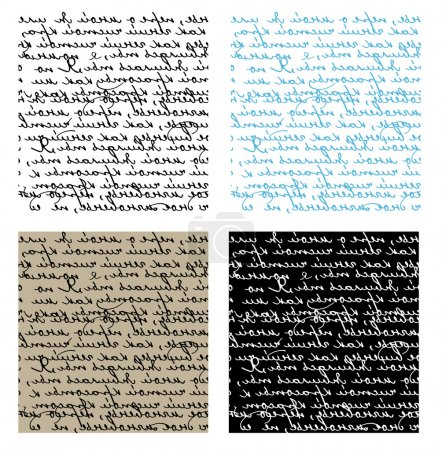Illustration for Set of seamless handwriting vector textures - Royalty Free Image