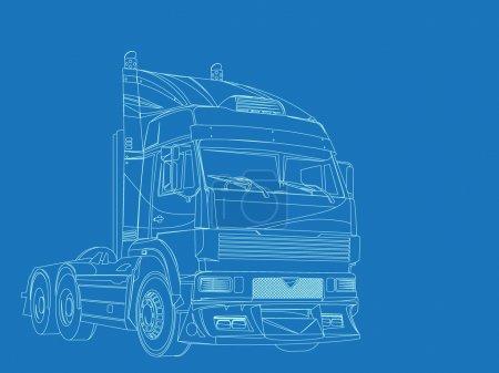 Blue print of super truck