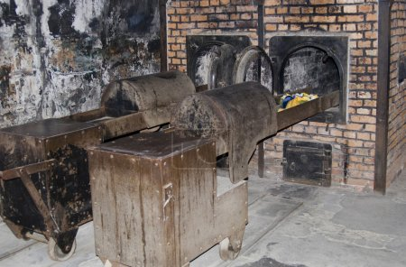 Oven for incineration in Auschwitz