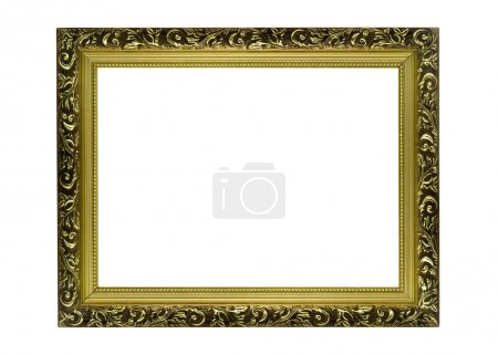 Empty Horizontal golden Frame