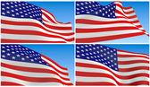Flying USA Flag