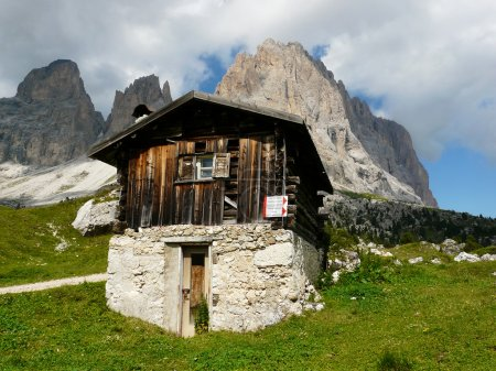 Hut in the Dolomites