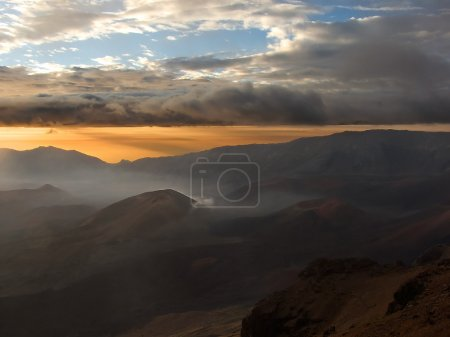 Sunrise over the Haleakala crater, Maui