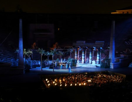 Aida opera in the roman arena, Verona