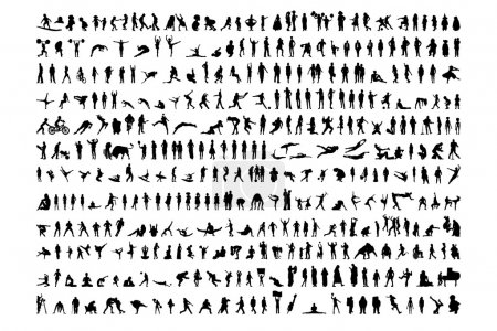 381 Human shapes silhouettes