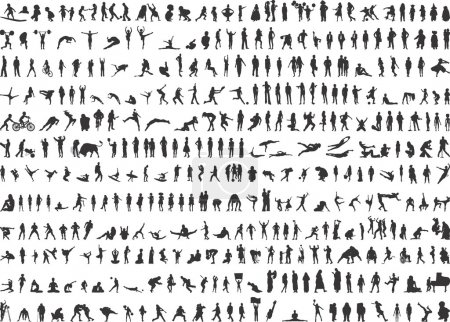 381 Human silhouettes