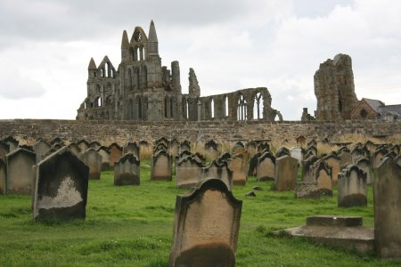 Monastery graveyard, Whitby, UK