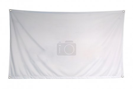 The empty flag is isolated on a white