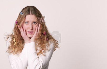 Butterflies in Her Hair