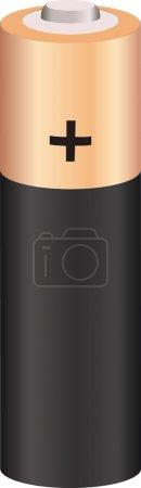 Illustration pour Vecteur double A batterie isolée sur blanc - image libre de droit