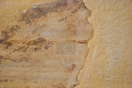 Photo for Stone background with antique Greek inscriptions from Delphi - Royalty Free Image