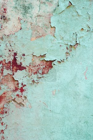 Blue vintage wall background