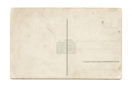Photo for Old empty post card scanned with high resolution - Royalty Free Image