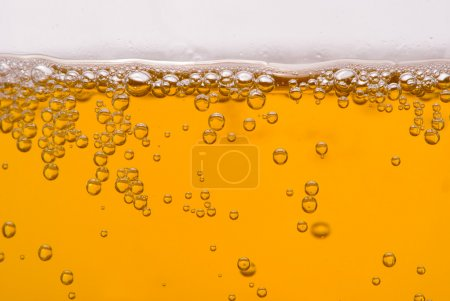 Photo for Close up of beer bubbles - Royalty Free Image