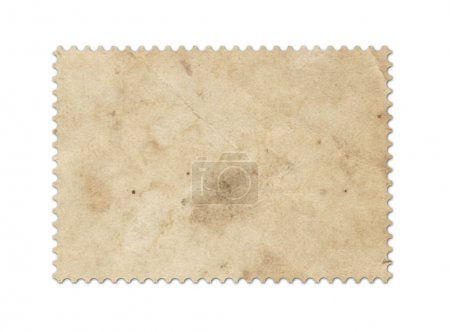 Photo for Blank post stamp scanned with high resolution. Saved with clipping path. - Royalty Free Image