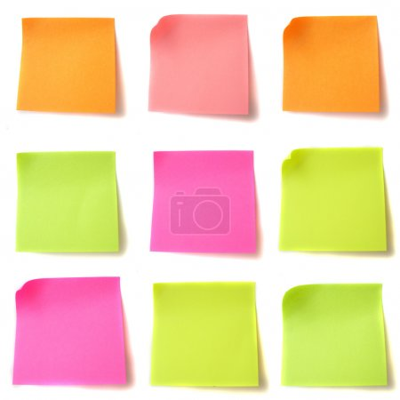 Colored note papers