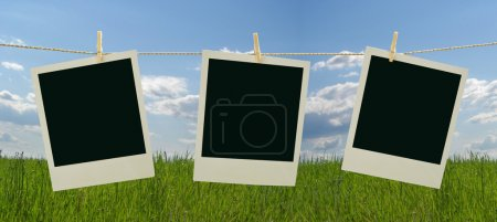 Photo frames with saved clipping path