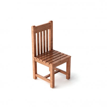 Isolated white wood chair