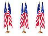 Flags of the United State isolated white