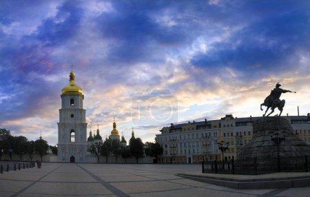 Sophievskaya Square. Kiev, Ukraine.