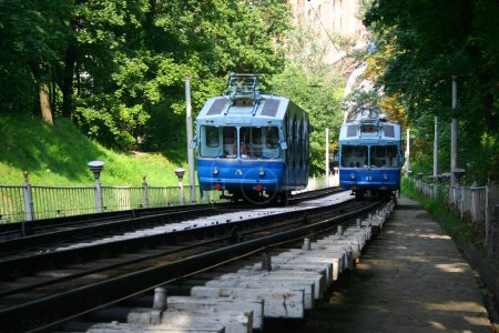 Railway funicular in Kiev, Ukraine