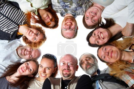 Photo for Happy team. 11 peoples. Isolated. - Royalty Free Image