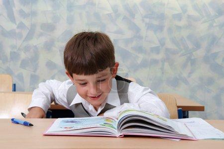 Elementary school. . Young Schoolboy